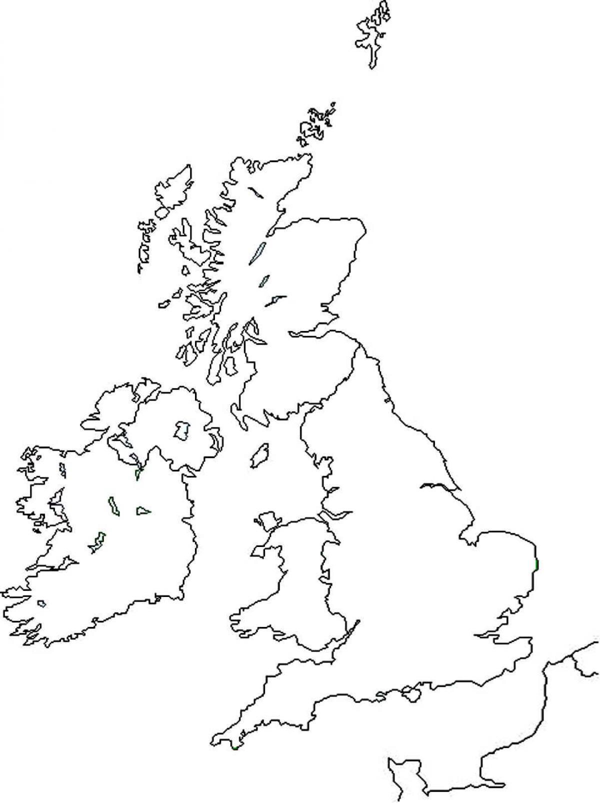Großbritannien Karte Umriss.Großbritannien Karte Umriss Karte Von Großbritannien Gliederung