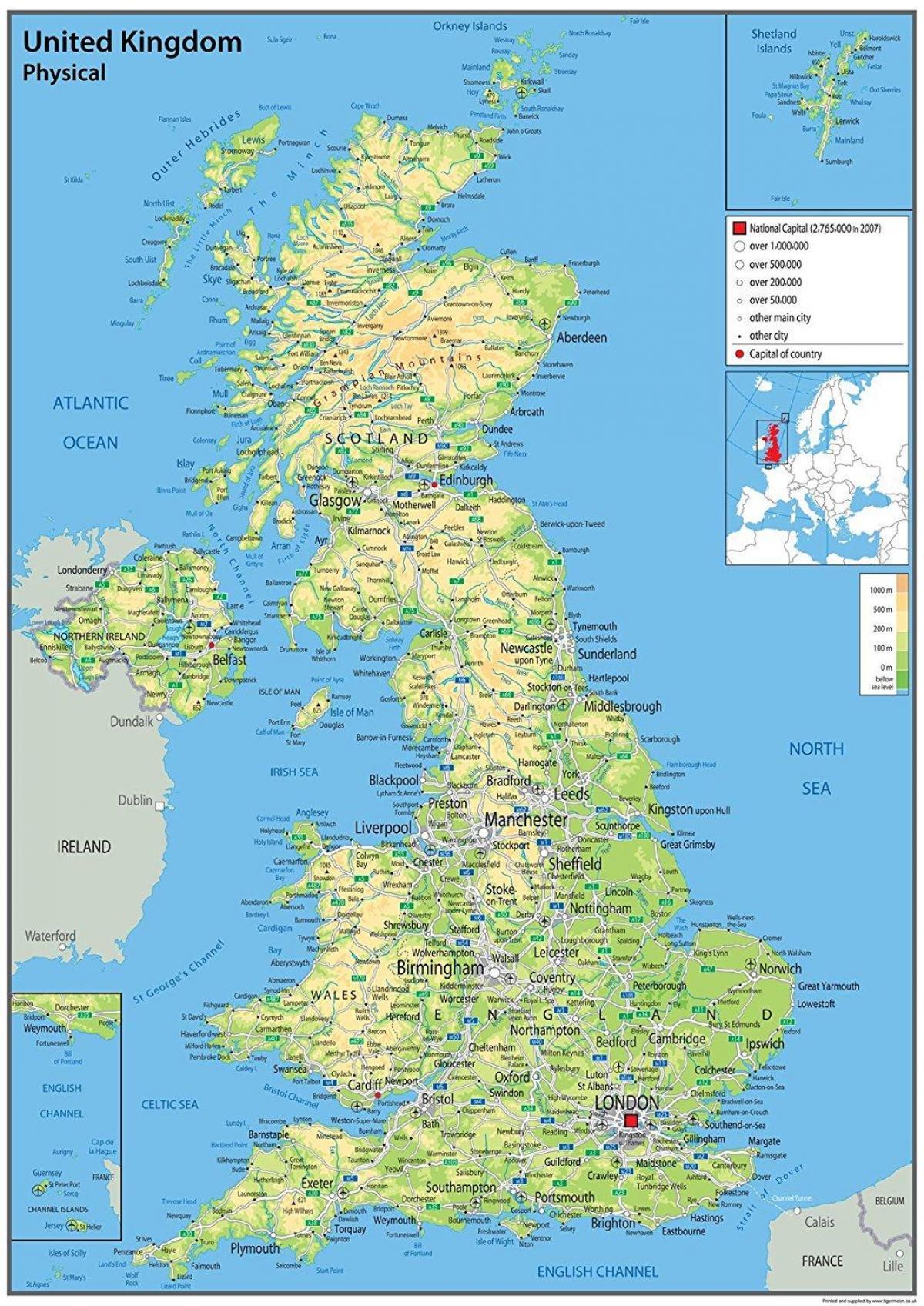 Karte Von Europa Mit Städten.Lidar Karten Großbritannien Karte Von Großbritannien Zeigt Städte